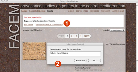 FACEM - provenience studies on pottery in the central mediterranean